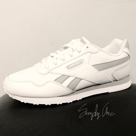 5c40f66afde LAST 1 ⭐ Reebok Classic leather shoes white gray